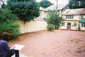 路環街景:路邊寫生的阿姨叔叔
