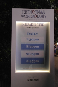 Christmas Wonderland Blizzard time